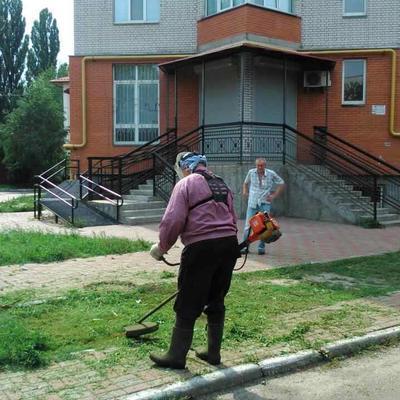 Покіс трави на вулиці Хмельницькій
