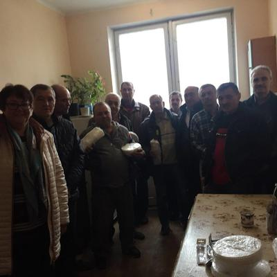 Привітання чоловічого колективу Центральної аварійної служби з Днем захисника України