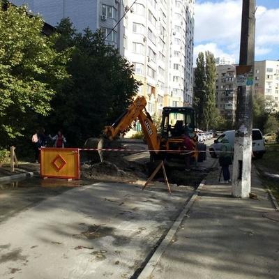 Ремонтні роботи мережі холодного водопостачання по вул. Клавдіївській та вул. Біличанській